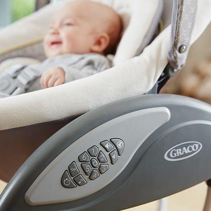 Baby rocker control panel