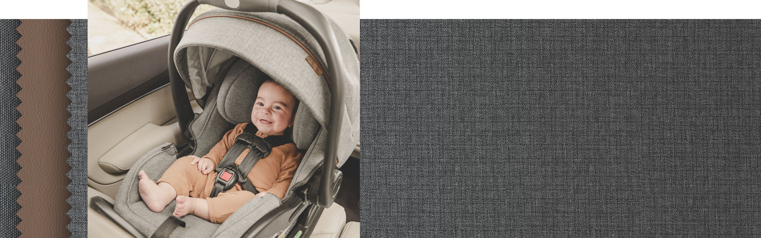 premier convertible car seat in rear facing position inside vehicle