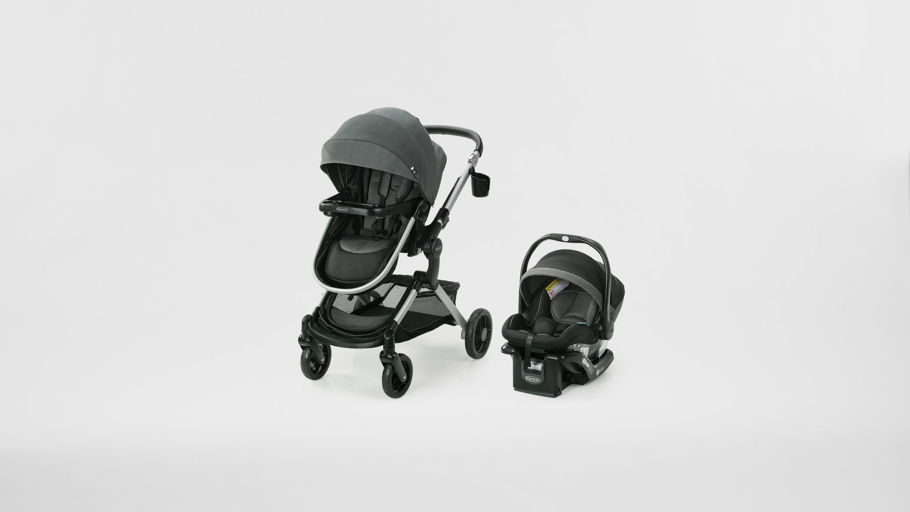 baby stroller and car seat