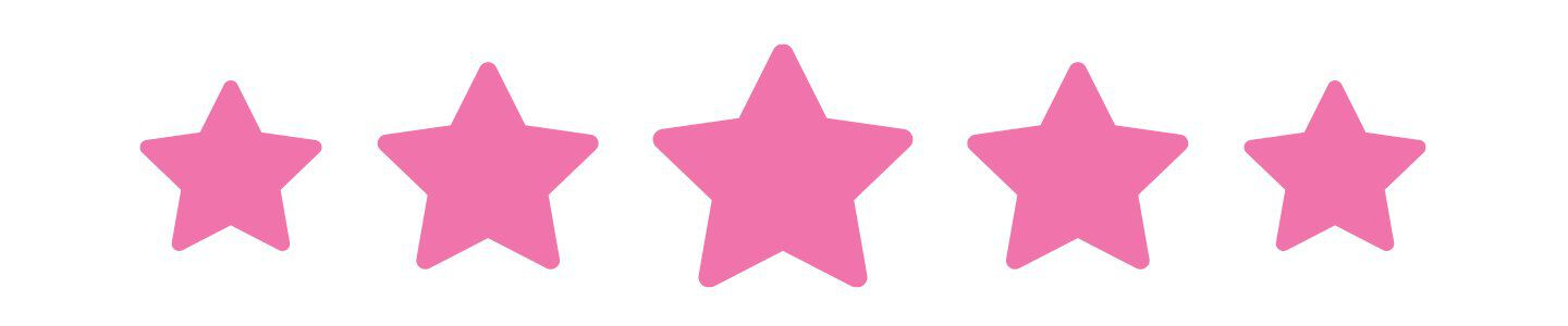 banner with 5 pink stars