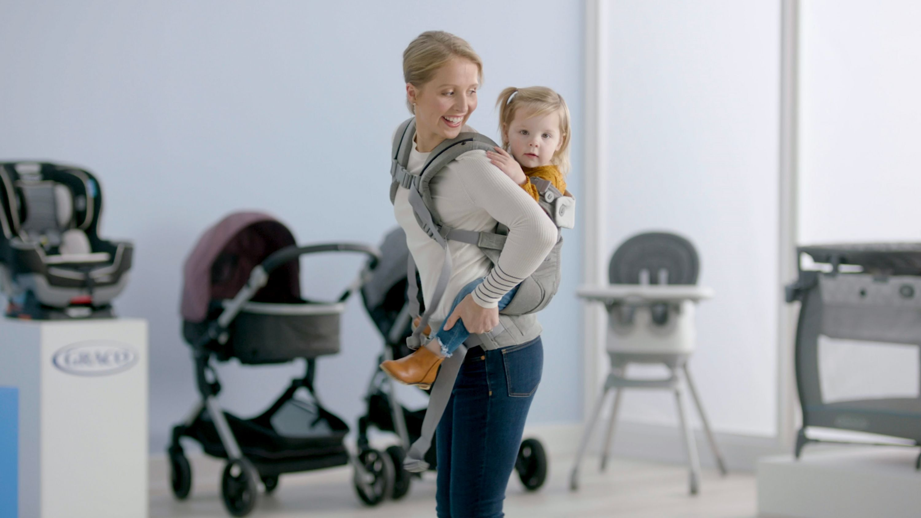 toddler in carrier