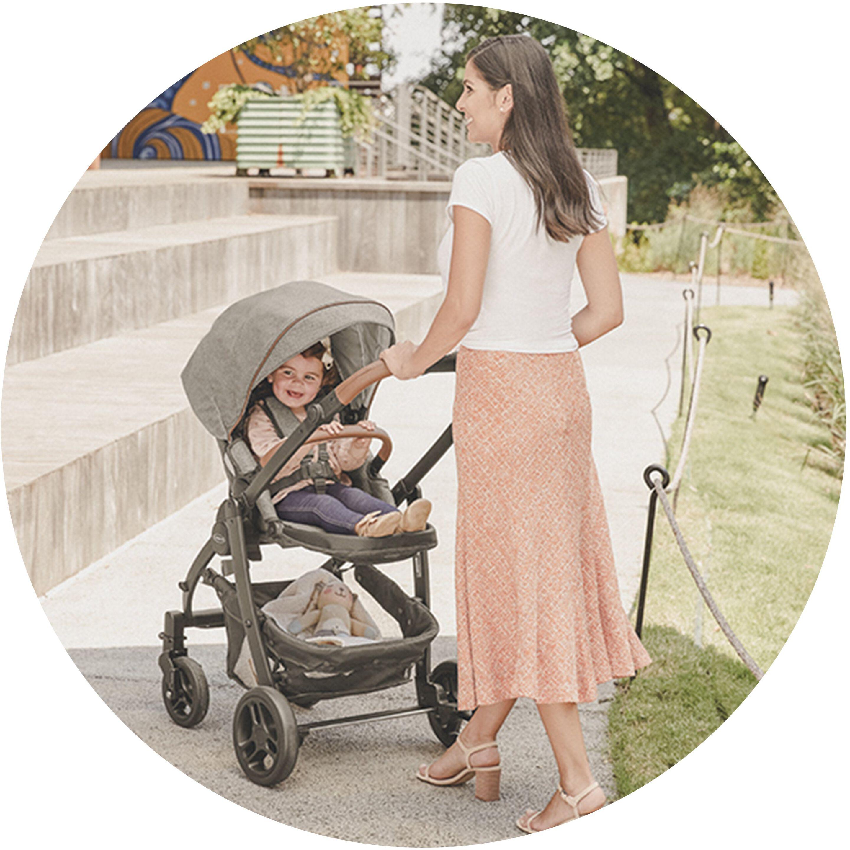 premier stroller with child inside